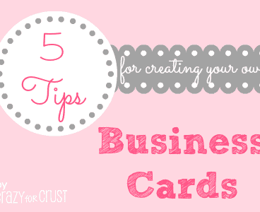 5 tips for creating business cards