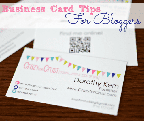 business-card tips for bloggers