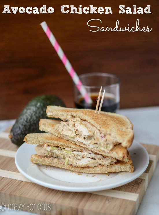 Recipe: Avocado chicken salad sandwiches