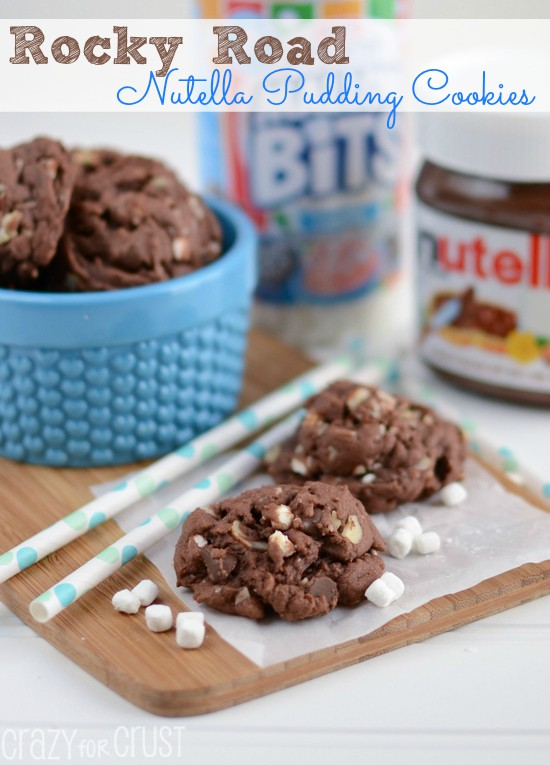 Recipe: Rocky road Nutella pudding cookies