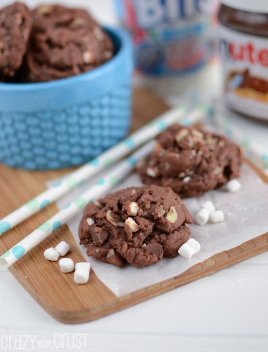Rocky Road Nutella Pudding Cookies | Crazy for Crust