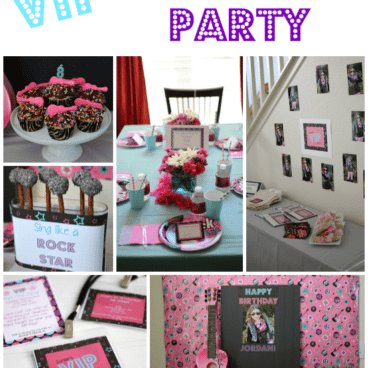 VIP Rock Star Party collage pinnable image