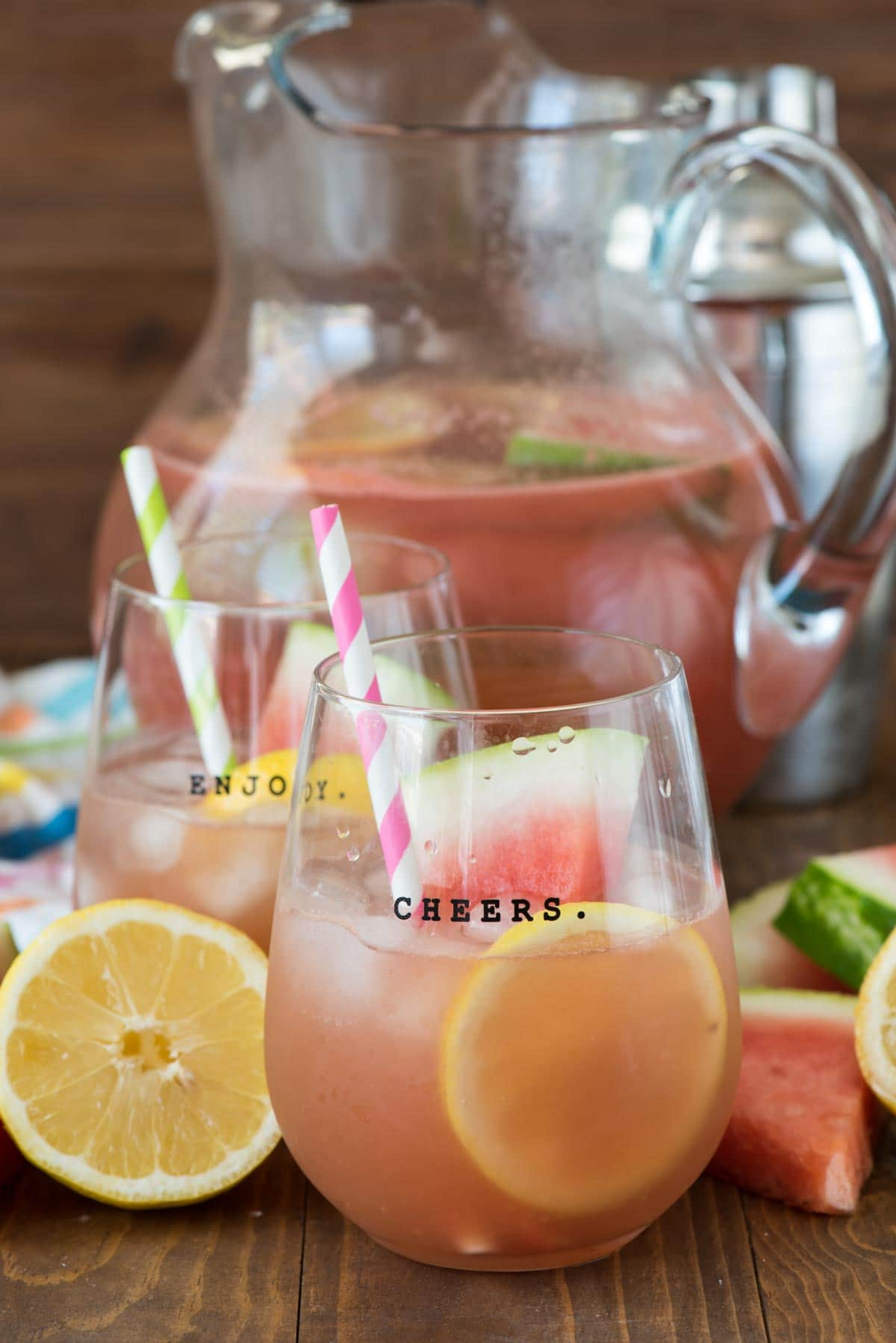 Watermelon Lemonade Margarita Recipe - for one or for a party!