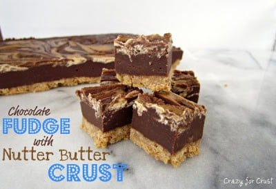 Chocolate Fudge with Nutter Butter Crust | Crazy for Crust