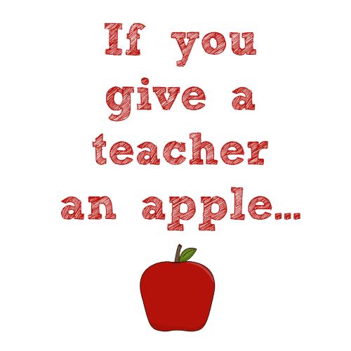give teacher apple