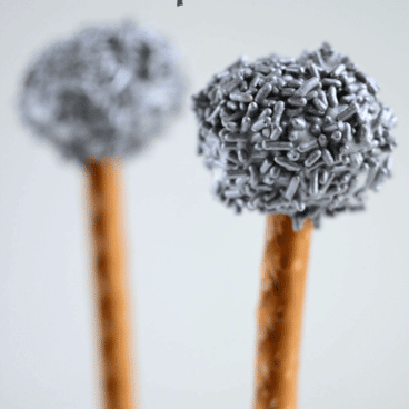 Microphone Cake Pops with pretzel stick holders