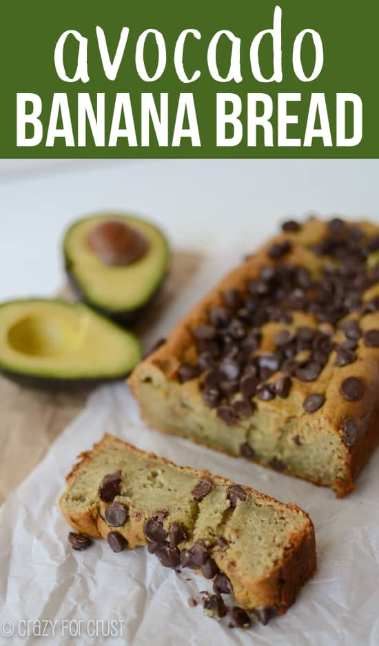 Avocado Banana Bread is an easy healthier banana bread recipe! Substitute avocado for butter and you have some of the best banana bread ever!