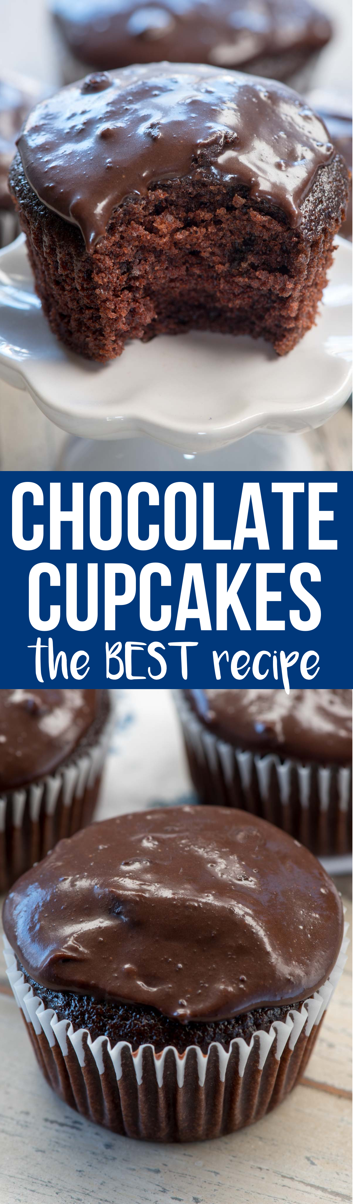 This is the BEST chocolate cupcake recipe I've ever eaten. It's moist and soft and the cooked chocolate frosting recipe is better than ganache!
