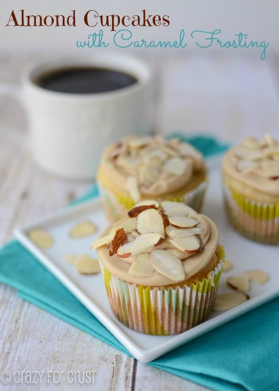 Recipe: Almond cupcakes with caramel frosting