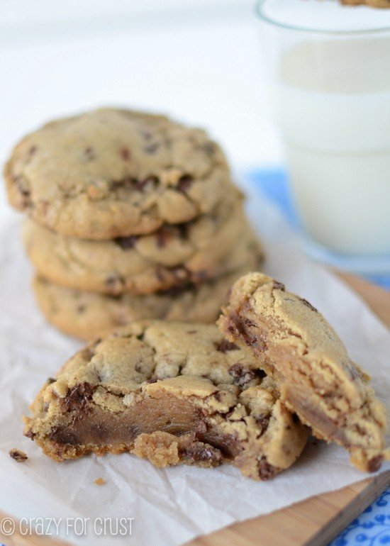 Bakery Style Chocolate Chip Cookies by www.crazyforcrust.com | XL Browned butter cookies filled with chocolate chips!