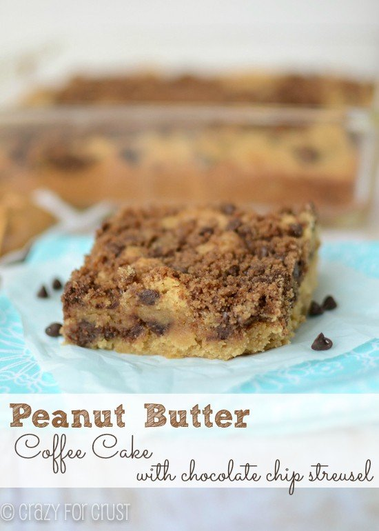 Peanut Butter Coffee Cake with Chocolate Chip Streusel