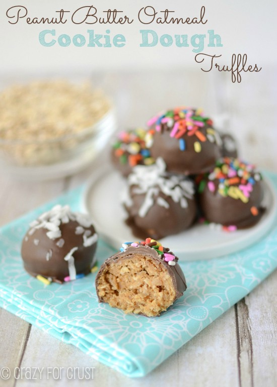 peanut butter oatmeal cookie dough truffles (1 of 5)w