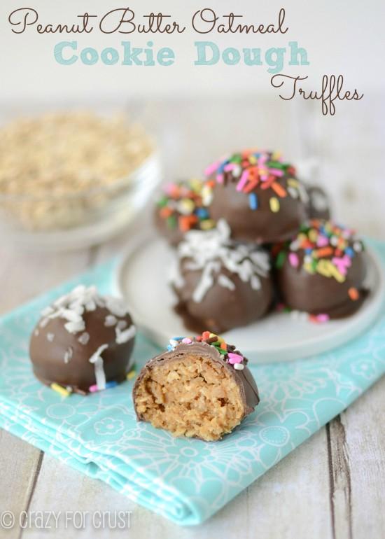 Recipe: Peanut butter oatmeal cookie dough truffles