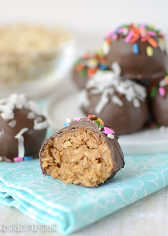 Oatmeal Peanut Butter Cookie Dough Truffles