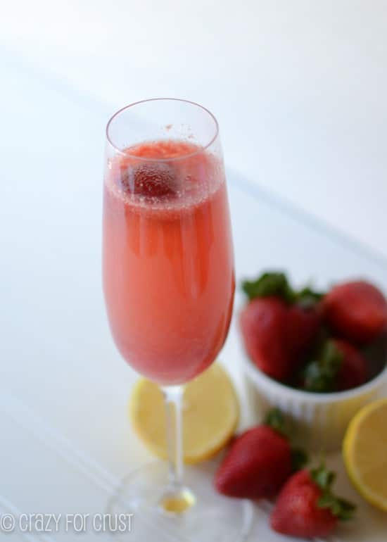 Strawberry Lemon Bellini and Sparkling Strawberry Lemonade