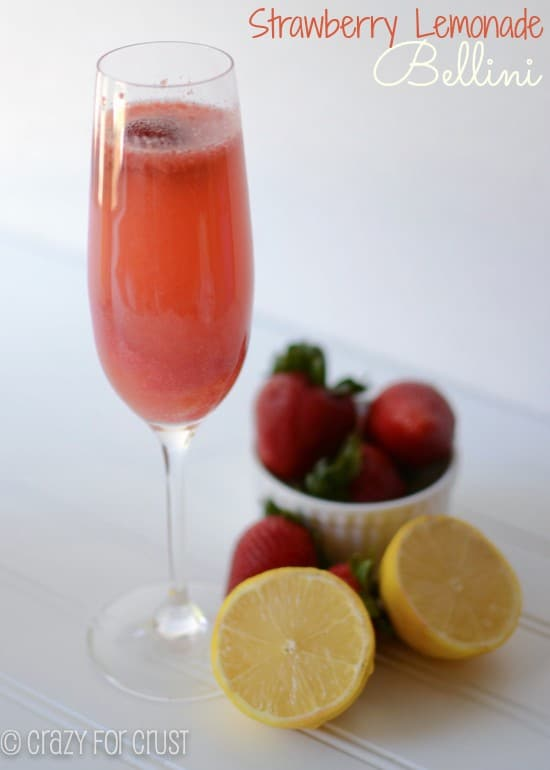 Recipe: Strawberry lemon bellini