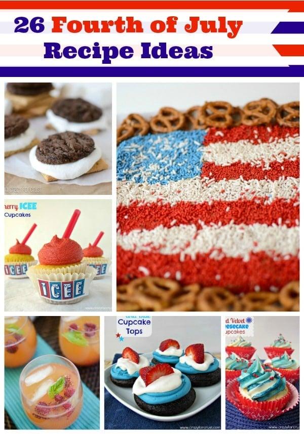 26 Fourth of July Recipe Ideas by www.crazyforcrust.com