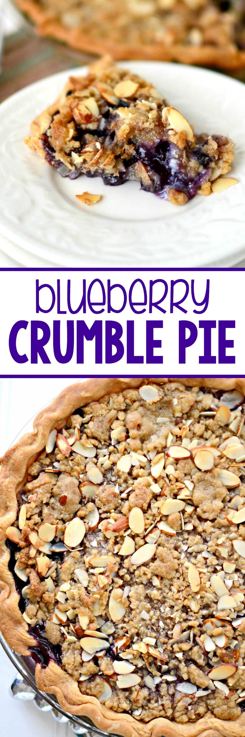 Blueberry Crumble Pie - one of the best pies ever! A fresh blueberry ...