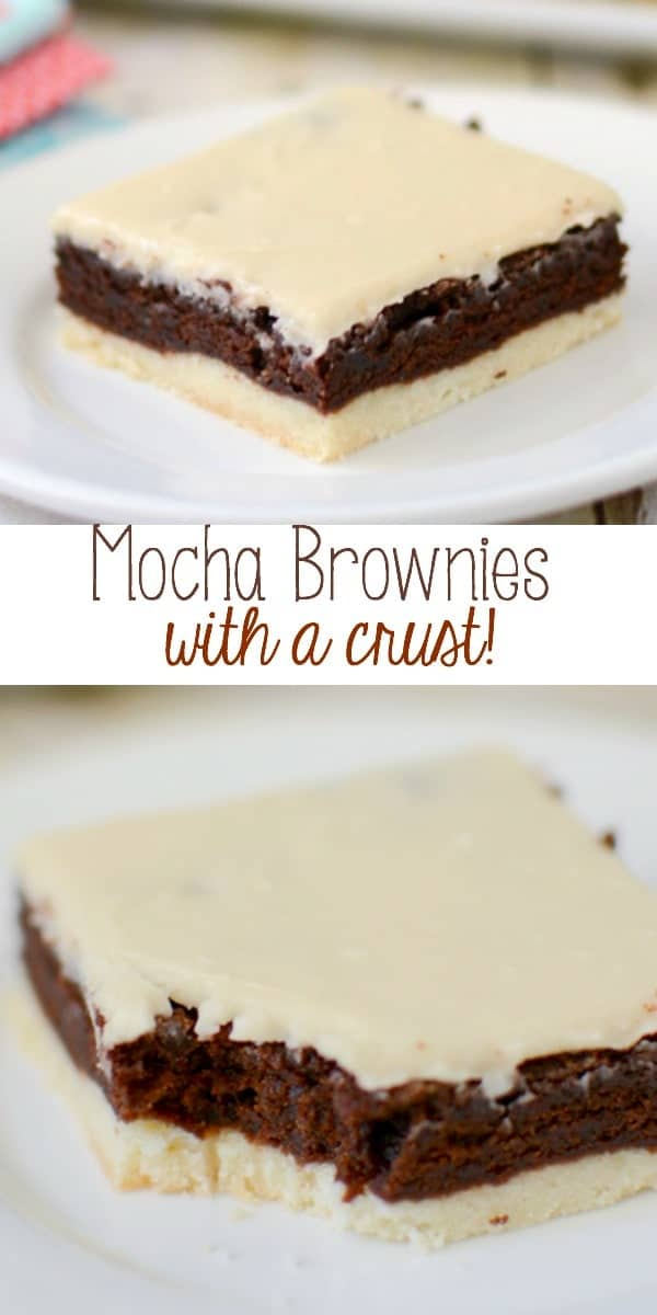 Mocha Brownies with a crust