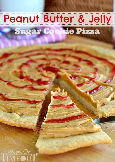 Peanut Butter and Jelly Sugar Cookie Pizza - Crazy for Crust