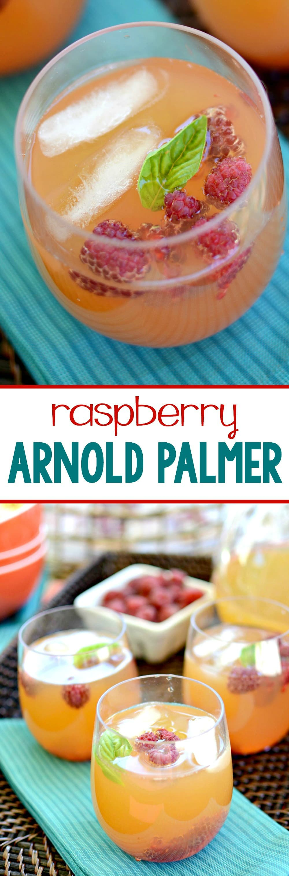 Raspberry Arnold Palmer - this easy drink recipe starts with fresh brewed iced tea with an infusion of raspberries! You can also jazz it up for the adults by adding vodka or wine!