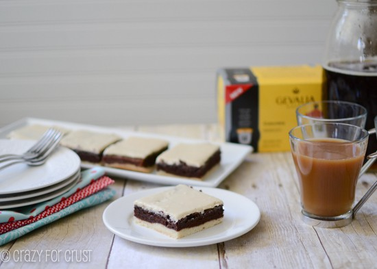 Mocha Brownies with a Crust by crazyforcrust.com | Coffee and chocolate in every bite!