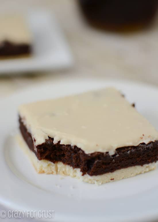 Mocha Brownies with a Crust by www.crazyforcrust.com | Coffee and chocolate in every bite!