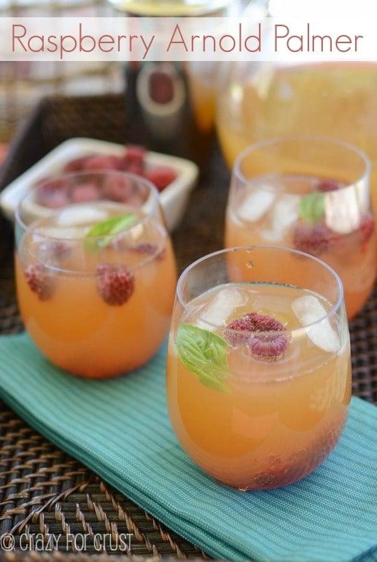 Raspberry Almond Palmer by crazyforcrust.com | A new twist on a classic drink!