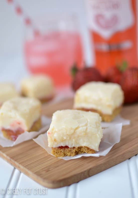 Strawberry Daiquiri Pie Fudge by www.crazyforcrust.com | Just like a pie but in fudge form!