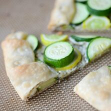 slice of pie tart with zucchini