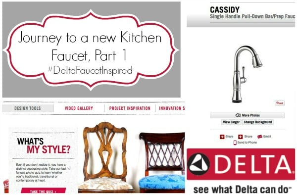 delta collageThe Story of a New Kitchen Faucet, Part 1 by www.crazyforcrust.com #DeltaFaucetInspired