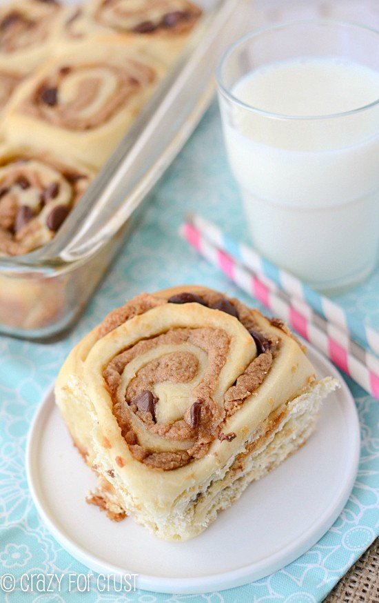 Peanut Butter Cinnamon Rolls by crazyforcrust.com | These are my favorite cinnamon rolls yet!