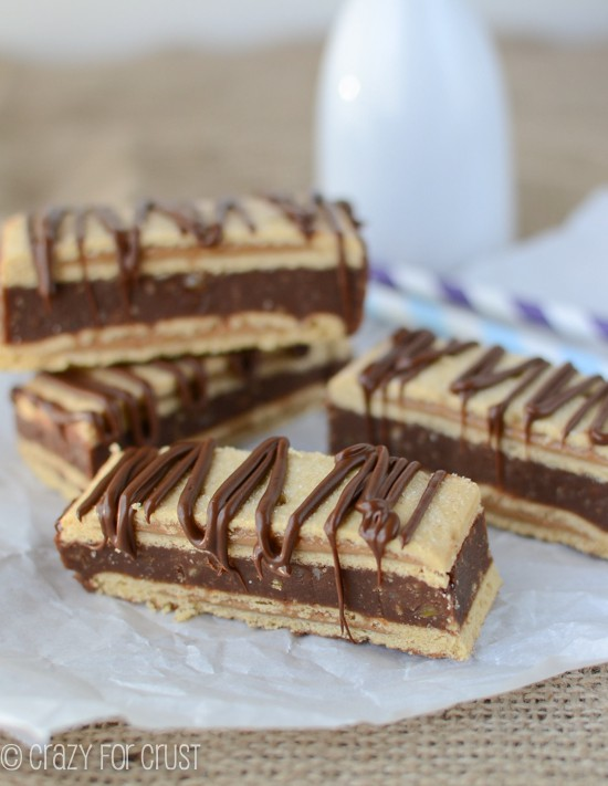 Peanut Butter Pop-tart Bars by www.crazyforcrust.com | Peanut Butter Pop-Tarts filled with a soft chocolate toffee mixture!