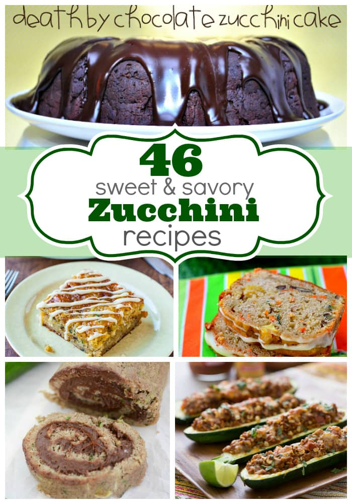 46 Sweet and Savory Zucchini Recipes from www.crazyforcrust.com & friends