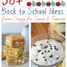 collage of 6 recipe photos for back to school
