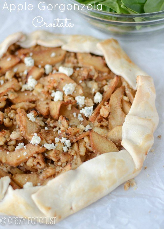 Apple Gorgonzola Crostata by www.crazyforcrust.com | A little sweet and a little savory - great for any meal or occasion!