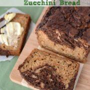 zucchini bread with chocolate swirl sliced