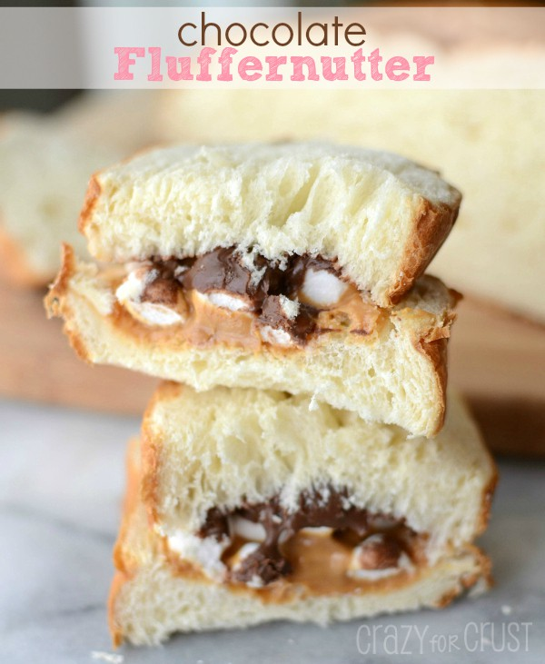 Chocolate Fluffernutter Sandwich