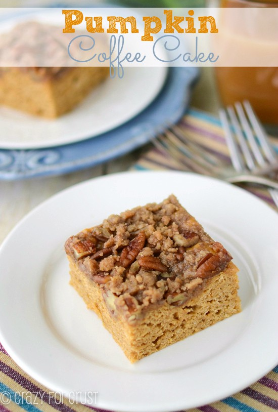 Getting in the mood a  little early: pumpkin coffee cake