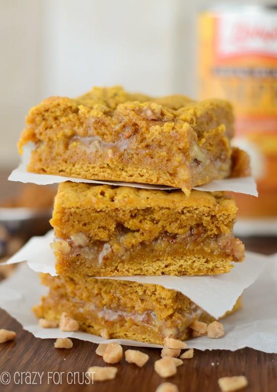 Pumpkin Toffee Gooey Bars