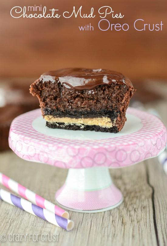 Recipe: Mini Chocolate Mud Pies with Oreo Crust