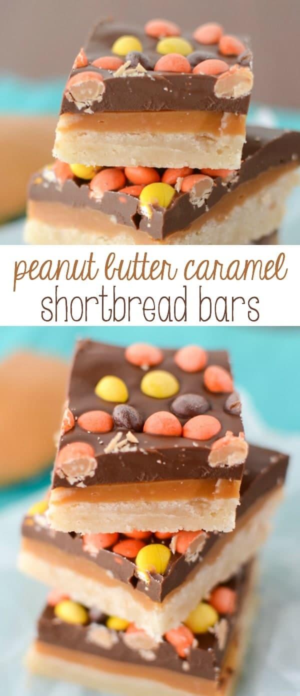 Peanut Butter Caramel Shortbread Bars