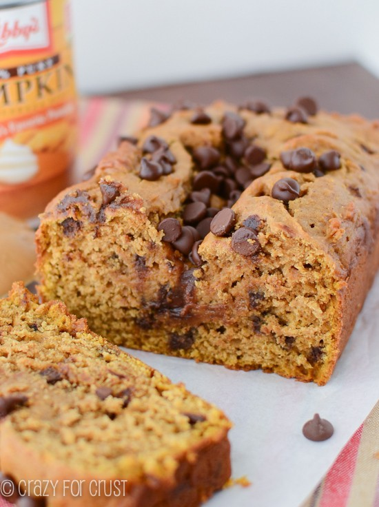 Peanut Butter Pumpkin Bread with chocolate chips | We LOVE this bread ...