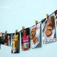 diy photo clothesline 1-words