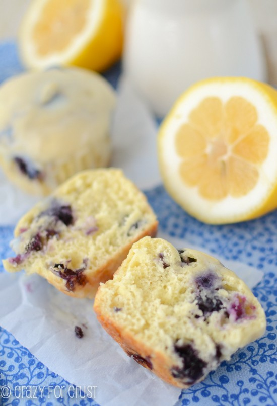 Lemon Blueberry Muffins | crazyforcrust.com | #blueberry #breakfast