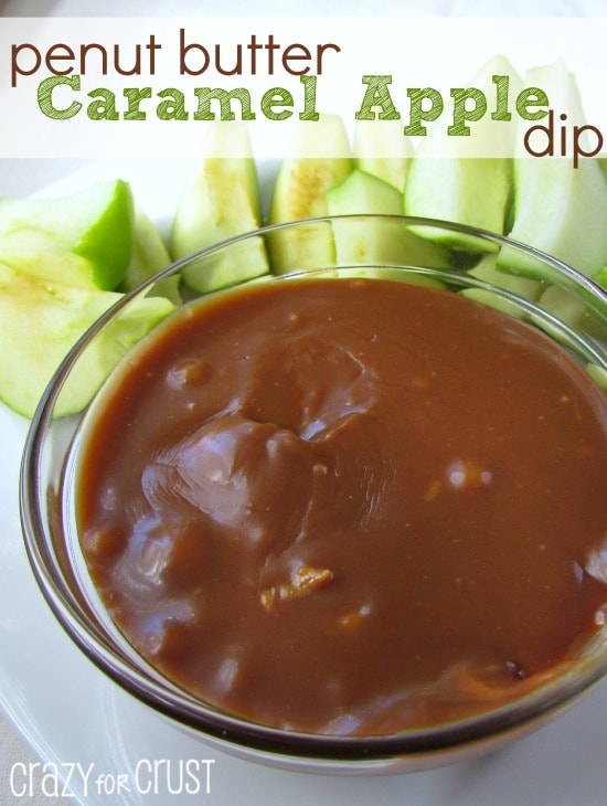 peanut butter caramel apple dip
