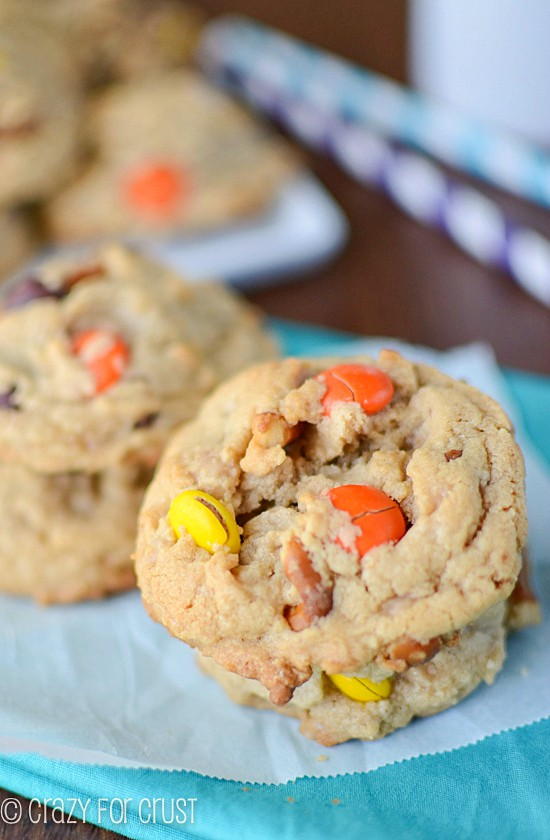 Toffee Pretzel Peanut Butter Cookies