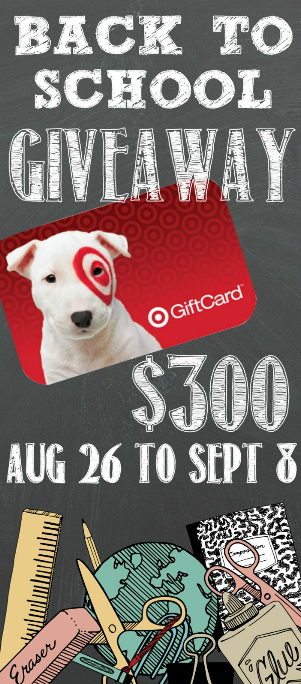 Back to School Giveaway $300 Target Gift Card – Crust and Crumbs