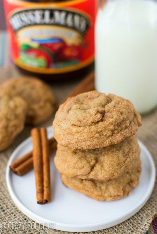 Apple Butter Snickerdoodles   crazyforcrust.com   #applebutterspin
