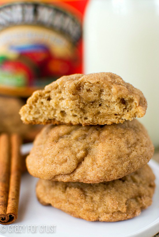 Apple Butter Snickerdoodles | crazyforcrust.com | #applebutterspin